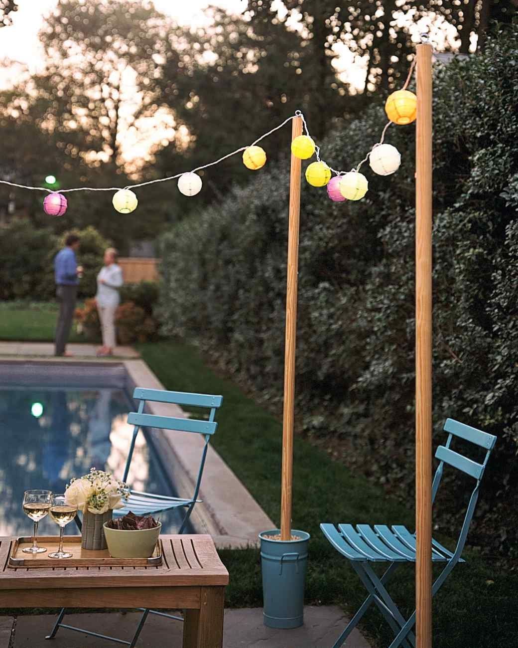 Pole Hanging Outdoor Lights In Fashionable Outdoor String Light Pole Ideas – Outdoor Designs (View 13 of 20)