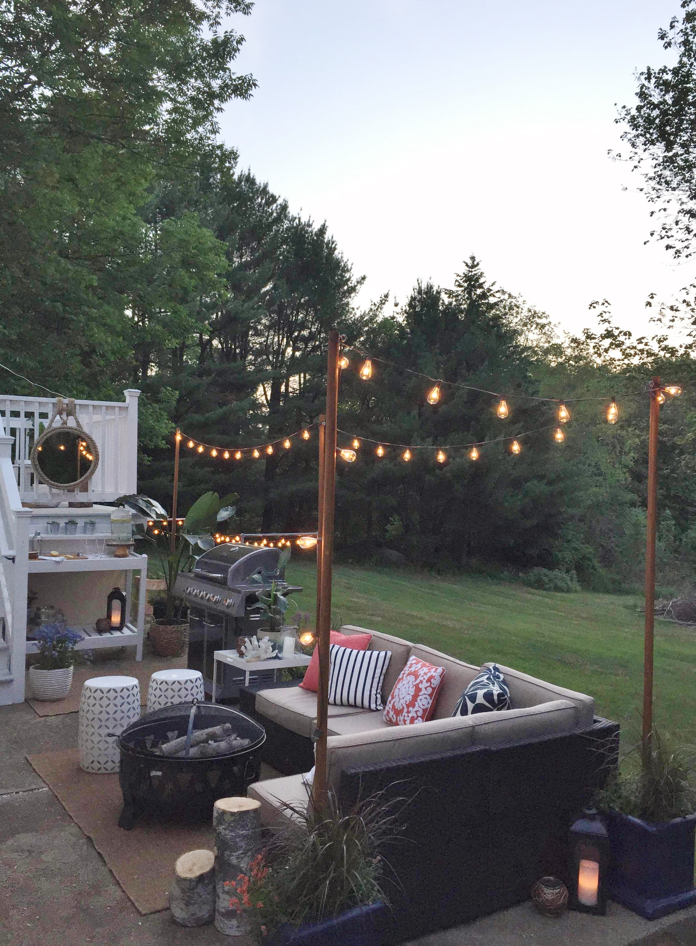 Pole Hanging Outdoor Lights With Regard To Most Popular Diy Outdoor Light Poles – City Farmhouse (View 16 of 20)