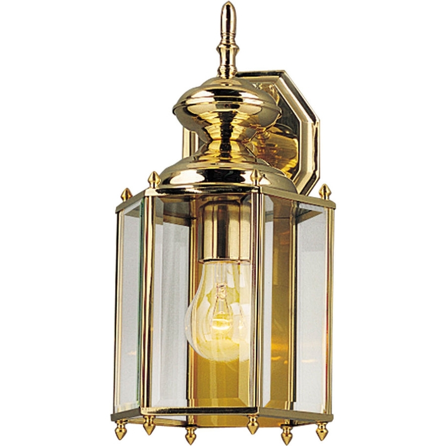 Polished Brass Outdoor Ceiling Lights Throughout Favorite Shop Progress Lighting Brassguard  (View 10 of 20)