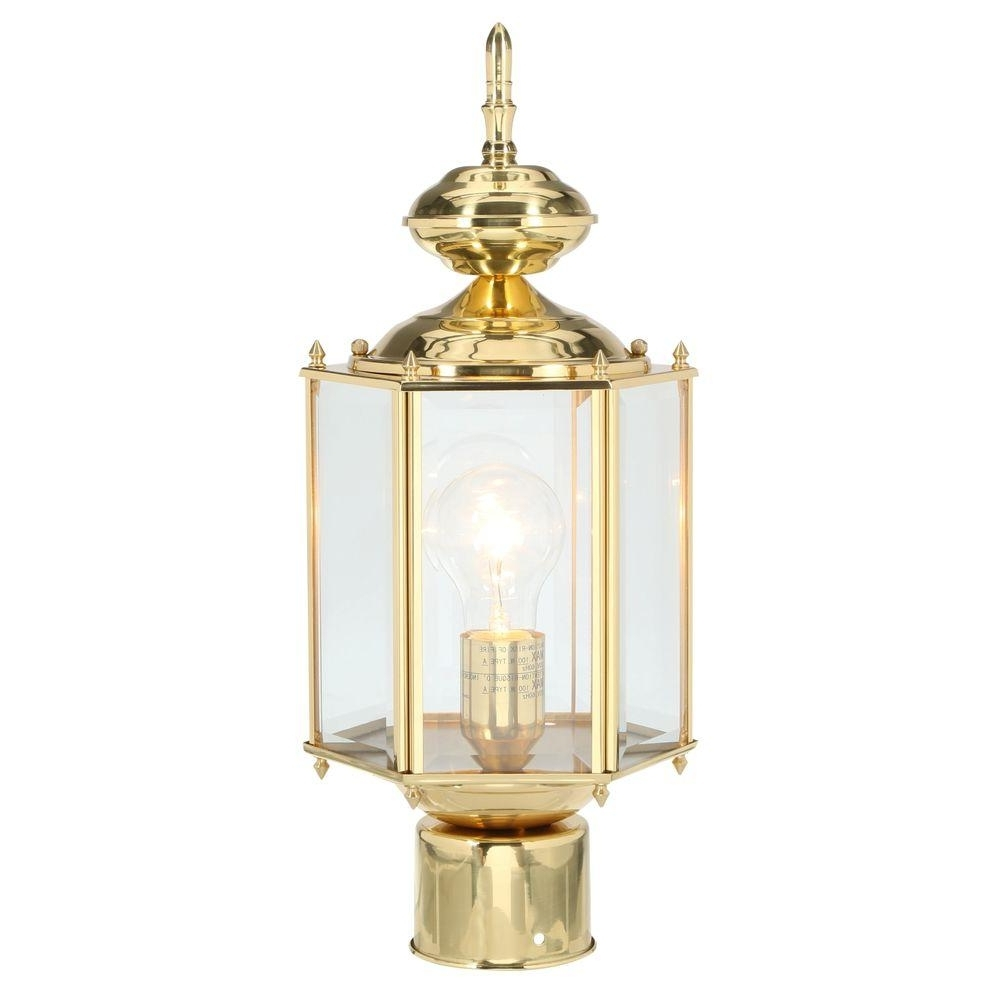 Polished Brass Outdoor Ceiling Lights With Regard To Newest Progress Lighting Brass Guard Collection 1 Light Polished Brass (View 12 of 20)