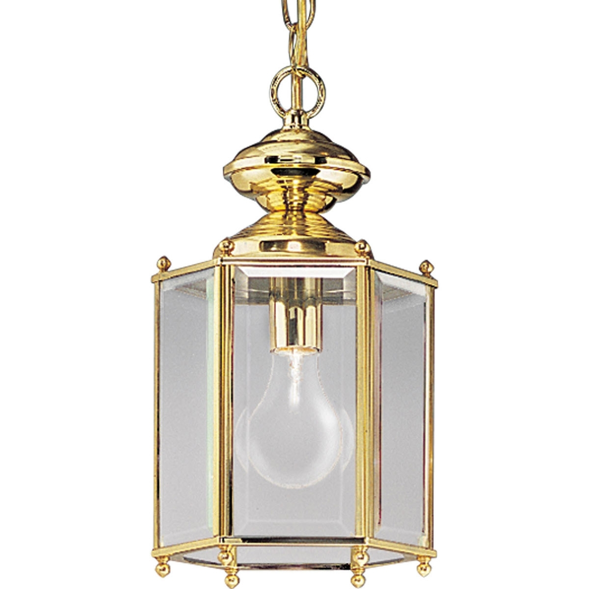 Polished Brass Outdoor Ceiling Lights With Regard To Recent Progress Lighting P5834 10 Beveled Glass Outdoor Ceiling Lights (View 9 of 20)