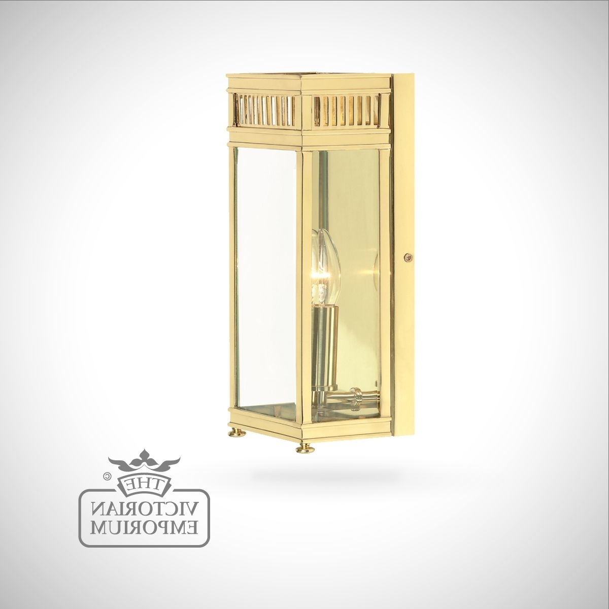 Polished Brass Outdoor Wall Lighting Inside 2018 Holborn Wall Lantern In Polished Brass – Small (View 10 of 20)
