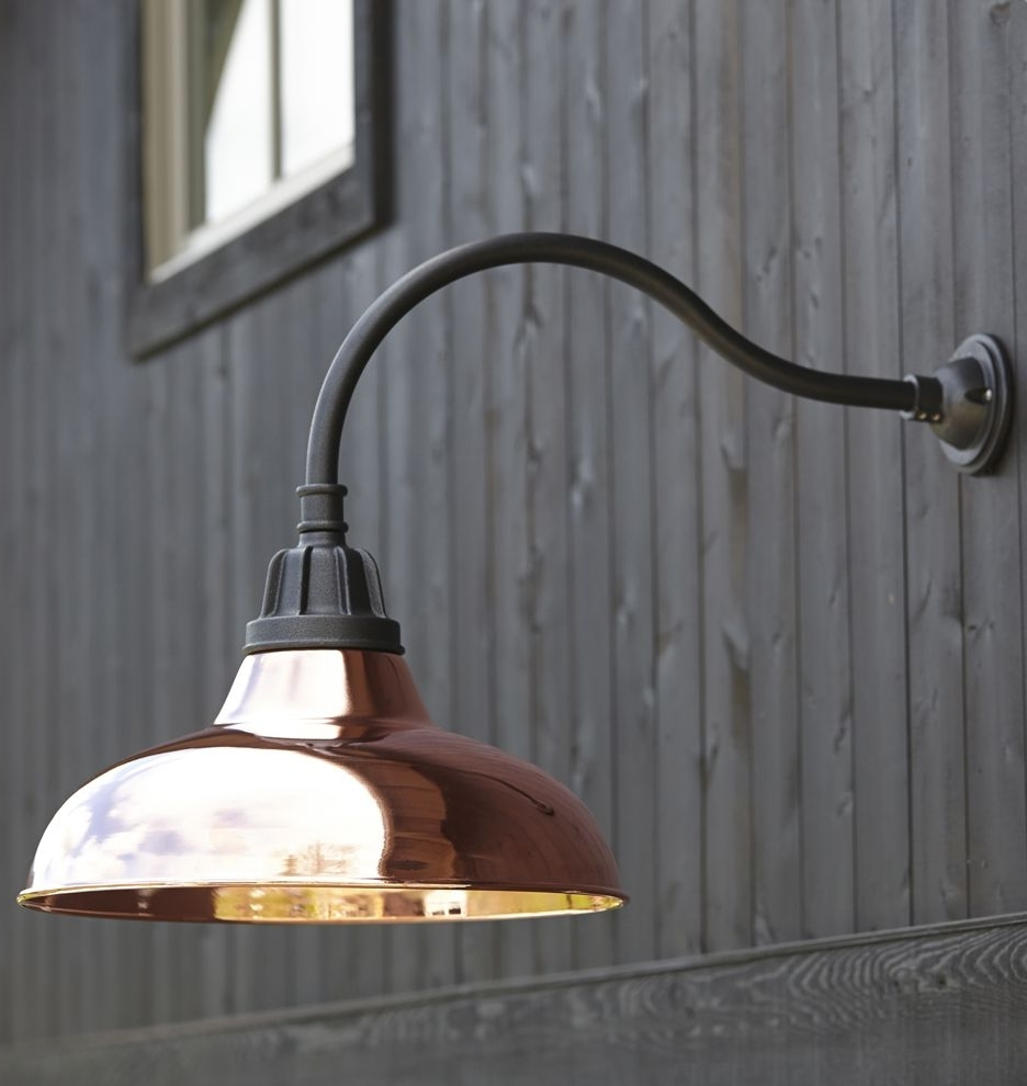Polished Nickel, Wall Throughout Newest Outdoor Gooseneck Wall Lighting (View 12 of 20)