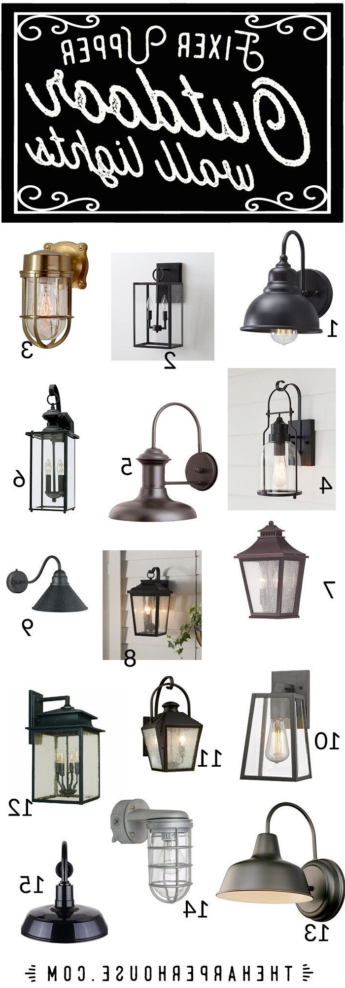 Popular Expensive Outdoor Wall Lighting Throughout Farmhouse, Industrial, Craftsman, Rustic Outdoor Wall Lights Under (View 19 of 20)