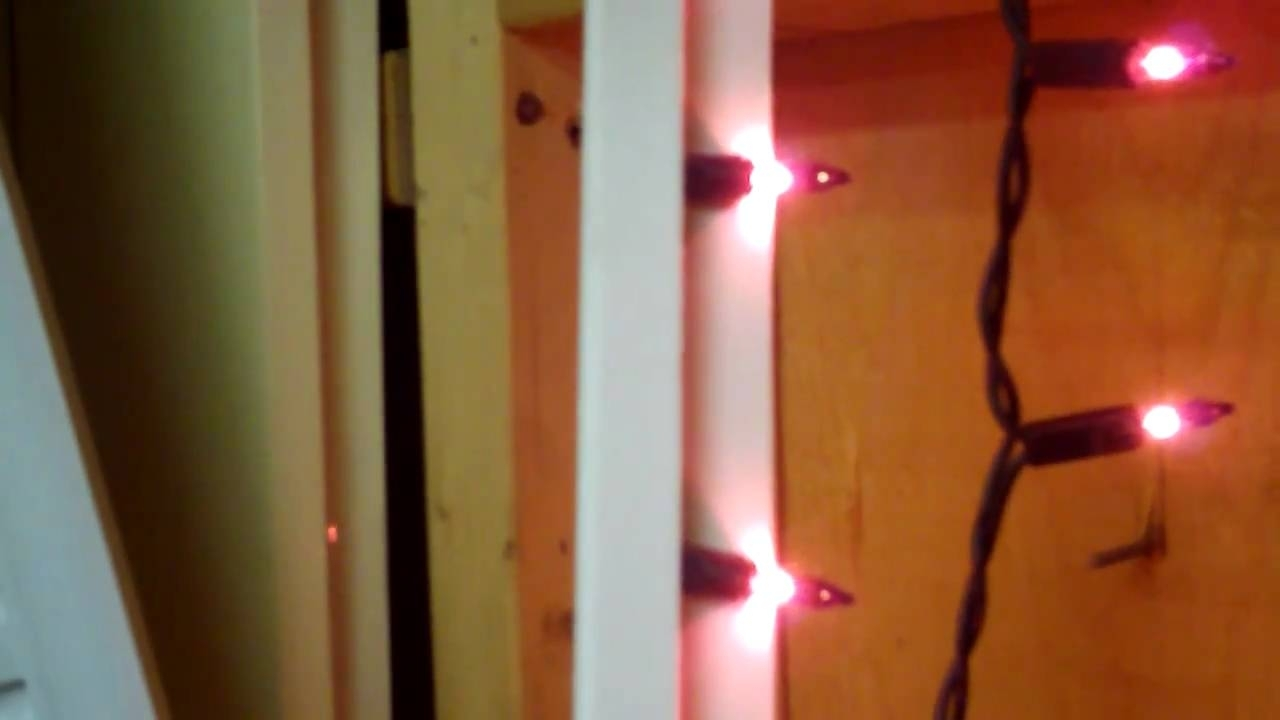 Popular Hanging Outdoor Christmas Lights Around Windows Inside Christmas Mini Light Window Frame Test – Youtube (View 8 of 20)