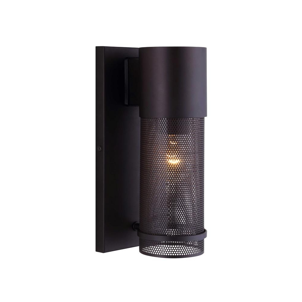 Popular High End Outdoor Wall Lighting Within Canarm Alfie 1 Light Oil Rubbed Bronze Outdoor Wall Light With Mesh (View 12 of 20)
