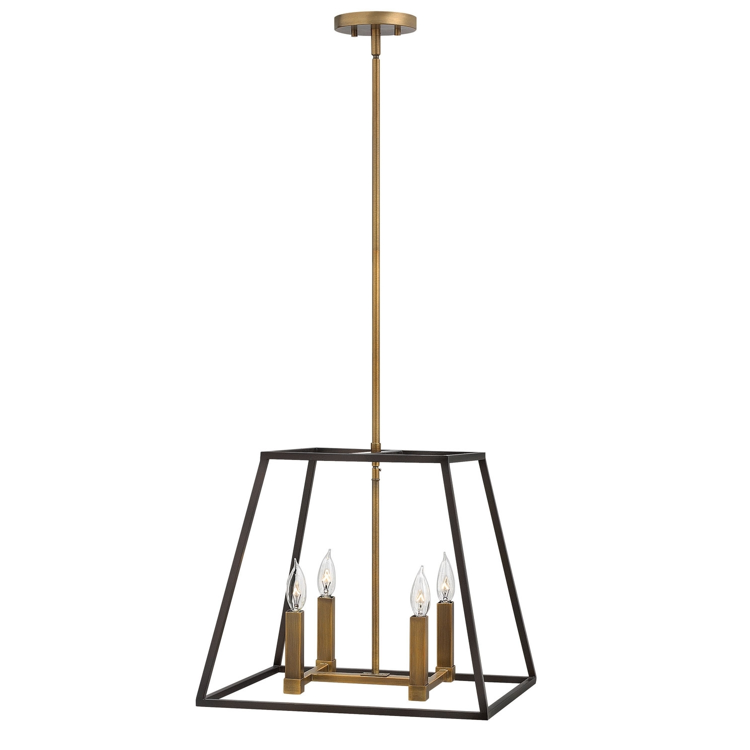 Popular Hinkley Fulton Bronze Four Light Foyer Pendant On Sale Inside Modern Latern Hinkley Lighting (View 12 of 20)