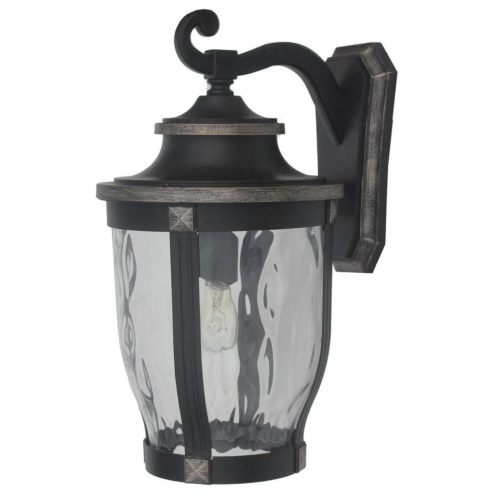 Popular Home Decorators Collection Mccarthy 1 Light Bronze Outdoor Wall Regarding Outdoor Home Wall Lighting (View 14 of 20)
