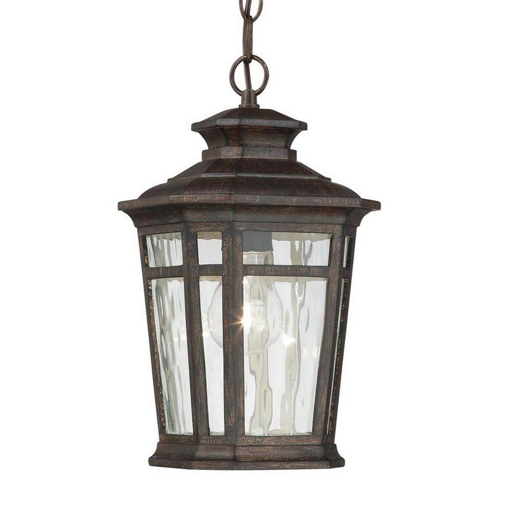 Popular Home Decorators Collection Waterton 1 Light Dark Ridge Bronze Pertaining To Outdoor Hanging Lighting Fixtures At Home Depot (View 17 of 20)