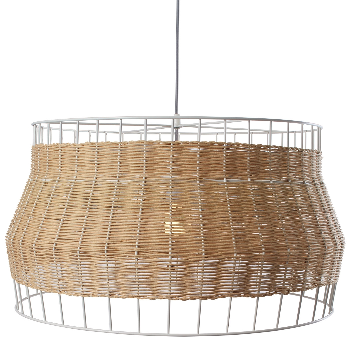 Popular Lighting : Laika Large Pendant Light Rattan Blu Dot Wicker Hanging With Outdoor Hanging Wicker Lights (View 16 of 20)