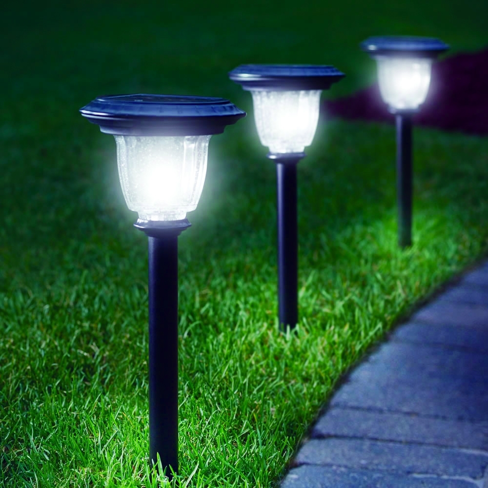 Popular Lighting Lowes Solar Garden Lights Lowes Solar Lights Solar Within With Regard To Lowes Solar Garden Lights Fixtures (View 14 of 20)