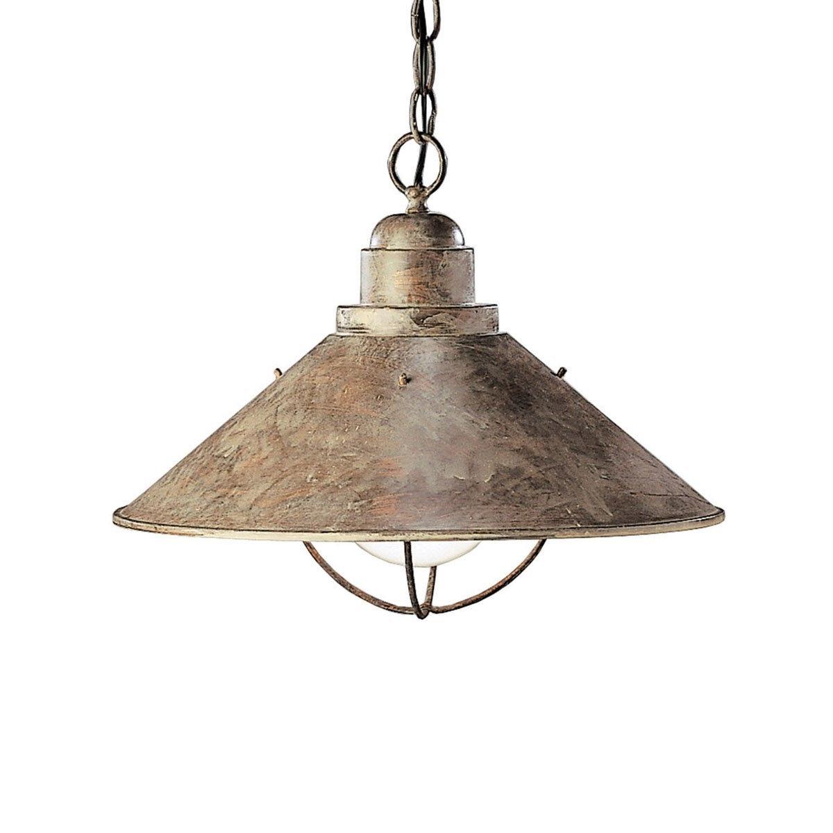 Popular Lighting : Rustic Outdoor Pendant Lighting Kichler 2713ob One Light With Rustic Outdoor Hanging Lights (View 2 of 20)