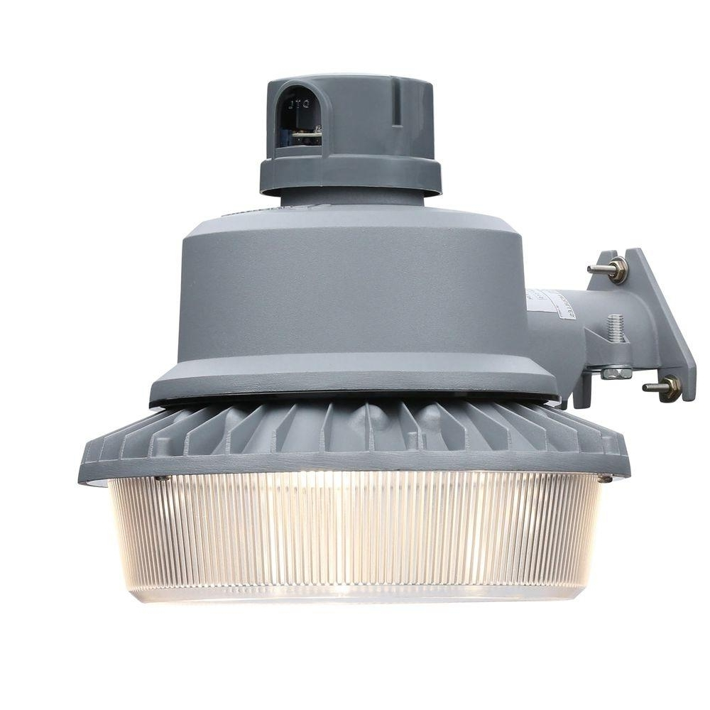 Popular Lithonia Lighting Gray Outdoor Integrated Led Area Light With Dusk Throughout Led Outdoor Wall Lights With Photocell (View 20 of 20)