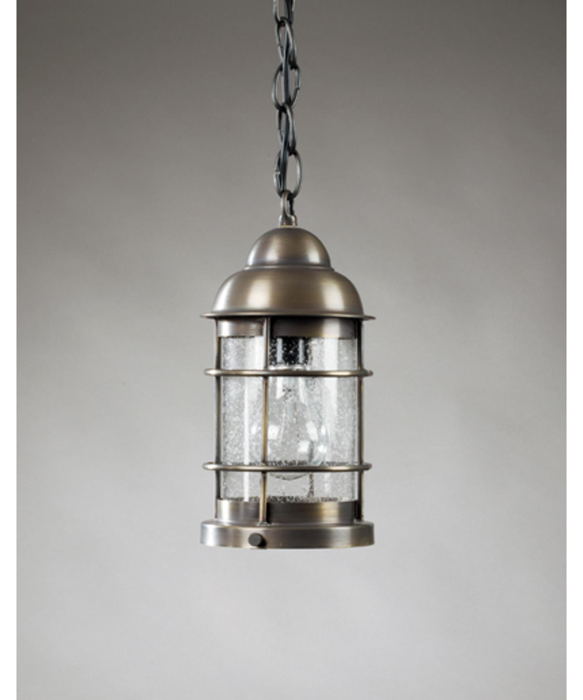 Popular Metal Outdoor Hanging Lights With Regard To Northeast Lantern 3512 Med Nautical 6 Inch Wide 1 Light Outdoor (View 14 of 20)