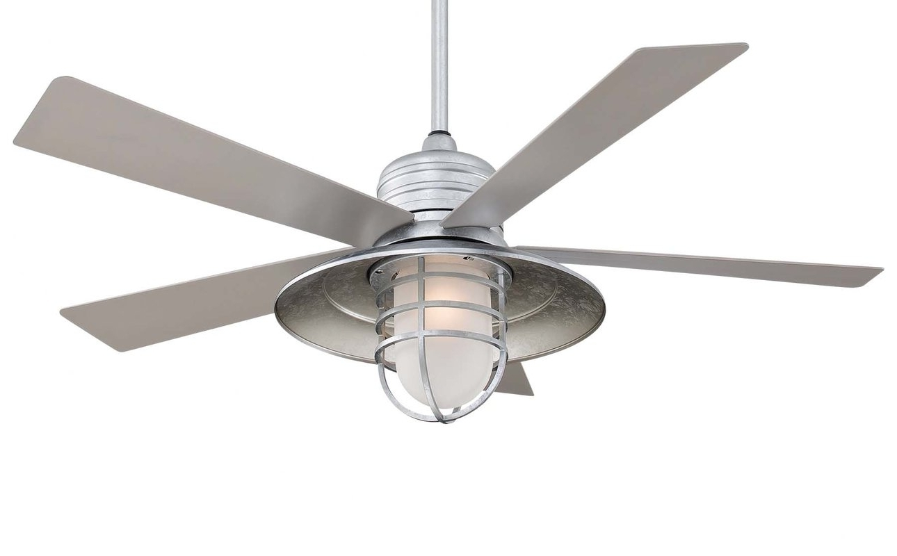 """Popular Outdoor Ceiling Fans With Damp Rated Lights Throughout Minka Aire 54"""" Rainman 5 Blade Outdoor Led Ceiling Fan & Reviews (View 19 of 20)"""