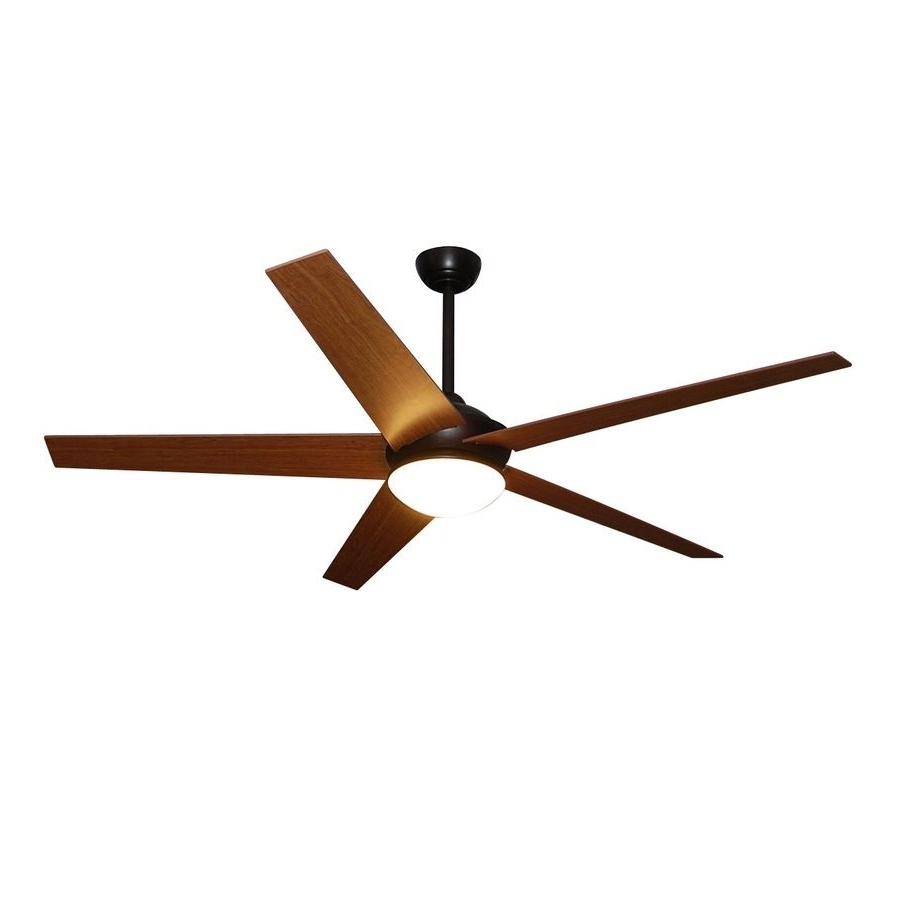 Popular Outdoor Ceiling Fans With Led Lights With Regard To Fanimation Studio Collection Covert 64 In Dark Bronze Downrod Mount (View 16 of 20)