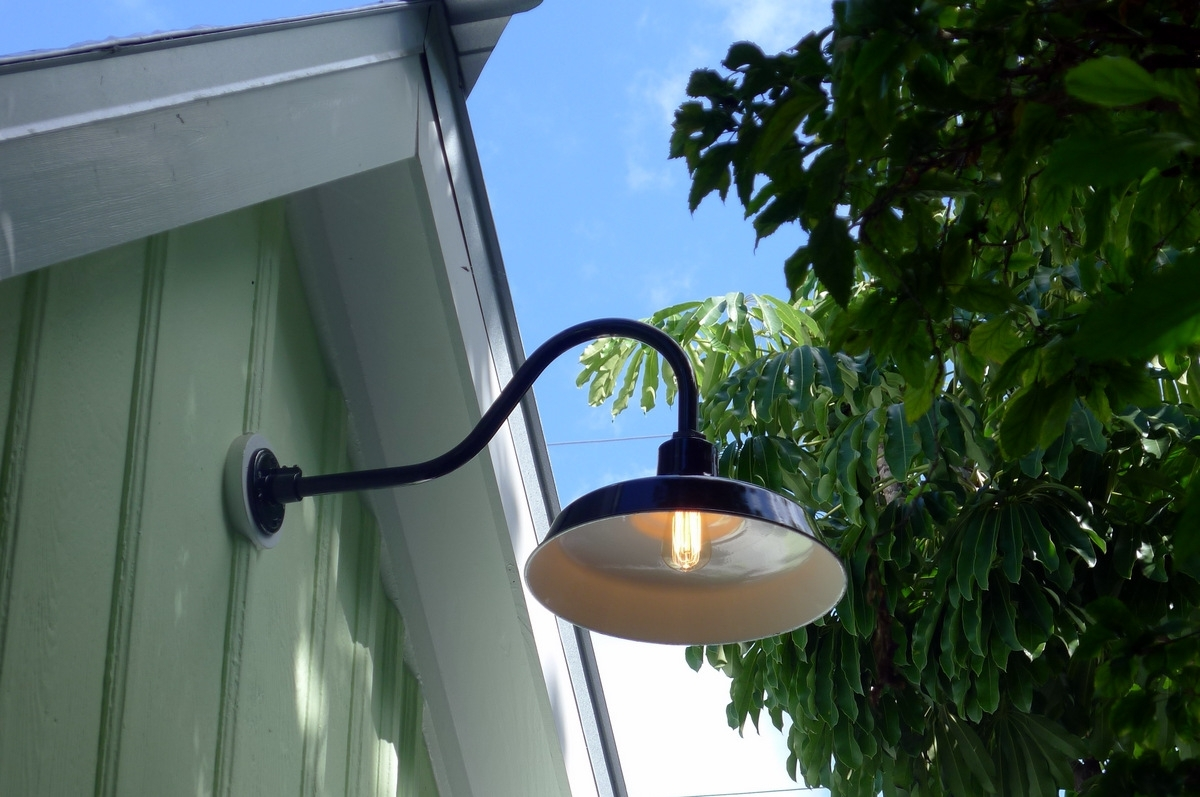 Popular Outdoor Gooseneck Wall Lighting For Gooseneck Barn Lights Bring Historic Touch To Conch Style Home (View 11 of 20)