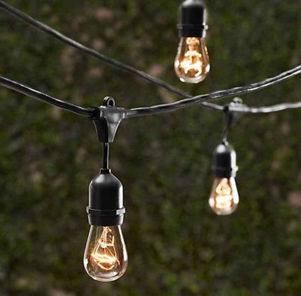 Popular Outdoor Hanging Lights At Amazon With Amazon : String Light Company Vintage 32 Ft Outdoor Commercial (View 16 of 20)