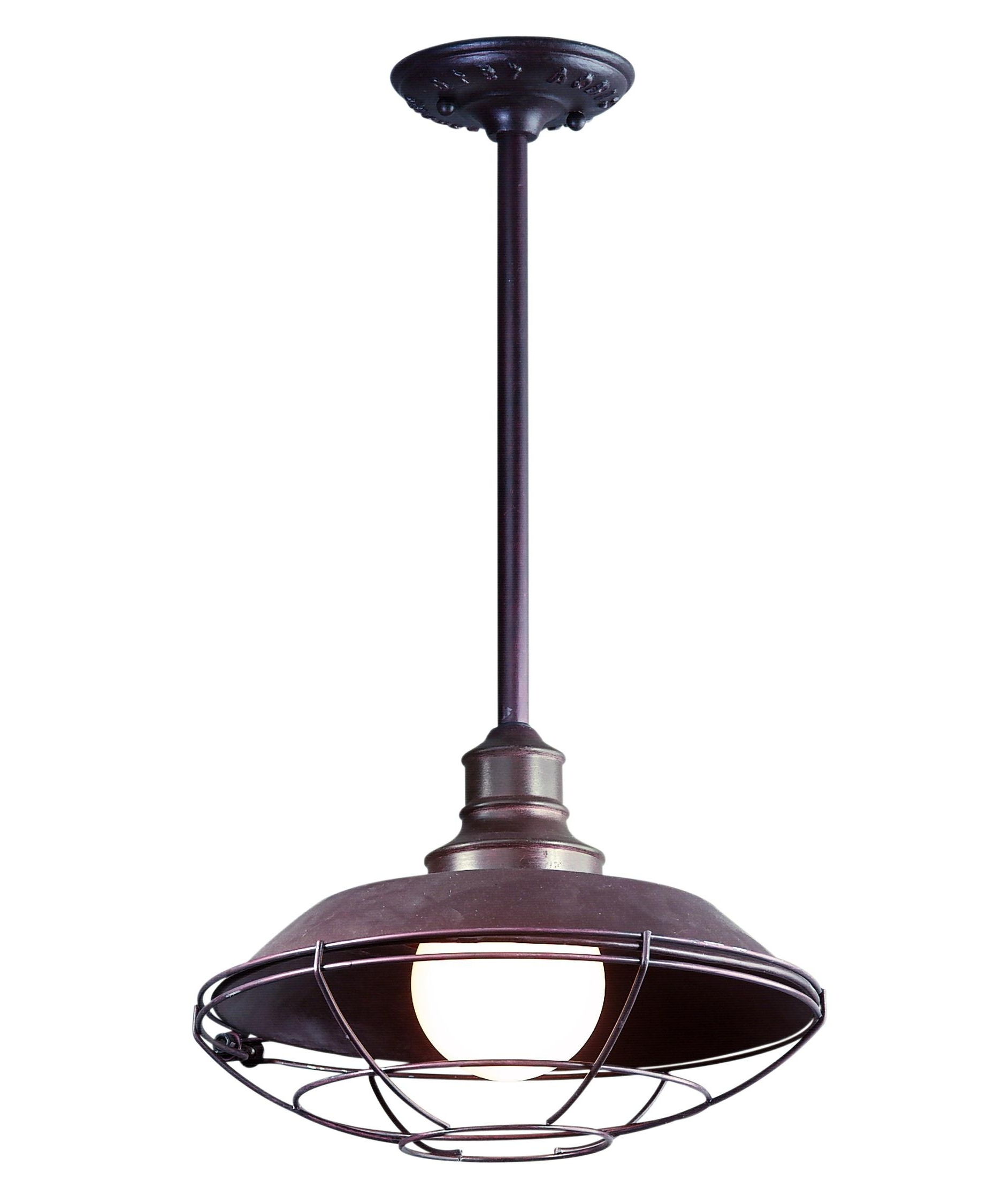 Popular Outdoor Hanging Pendant Lights Inside Troy Lighting F9273 Circa 1910 12 Inch Wide 1 Light Outdoor Hanging (View 5 of 20)