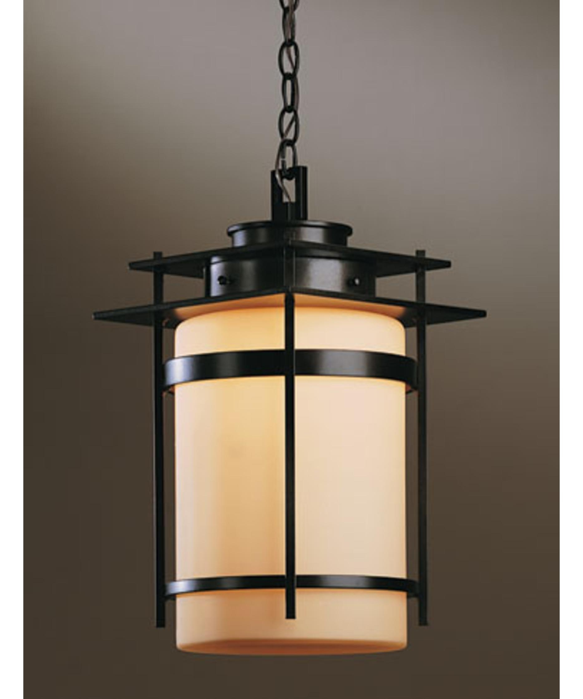 Popular Outdoor Hanging Porch Lights In Hubbardton Forge 365893 Banded 11 Inch Wide 1 Light Outdoor Hanging (View 14 of 20)