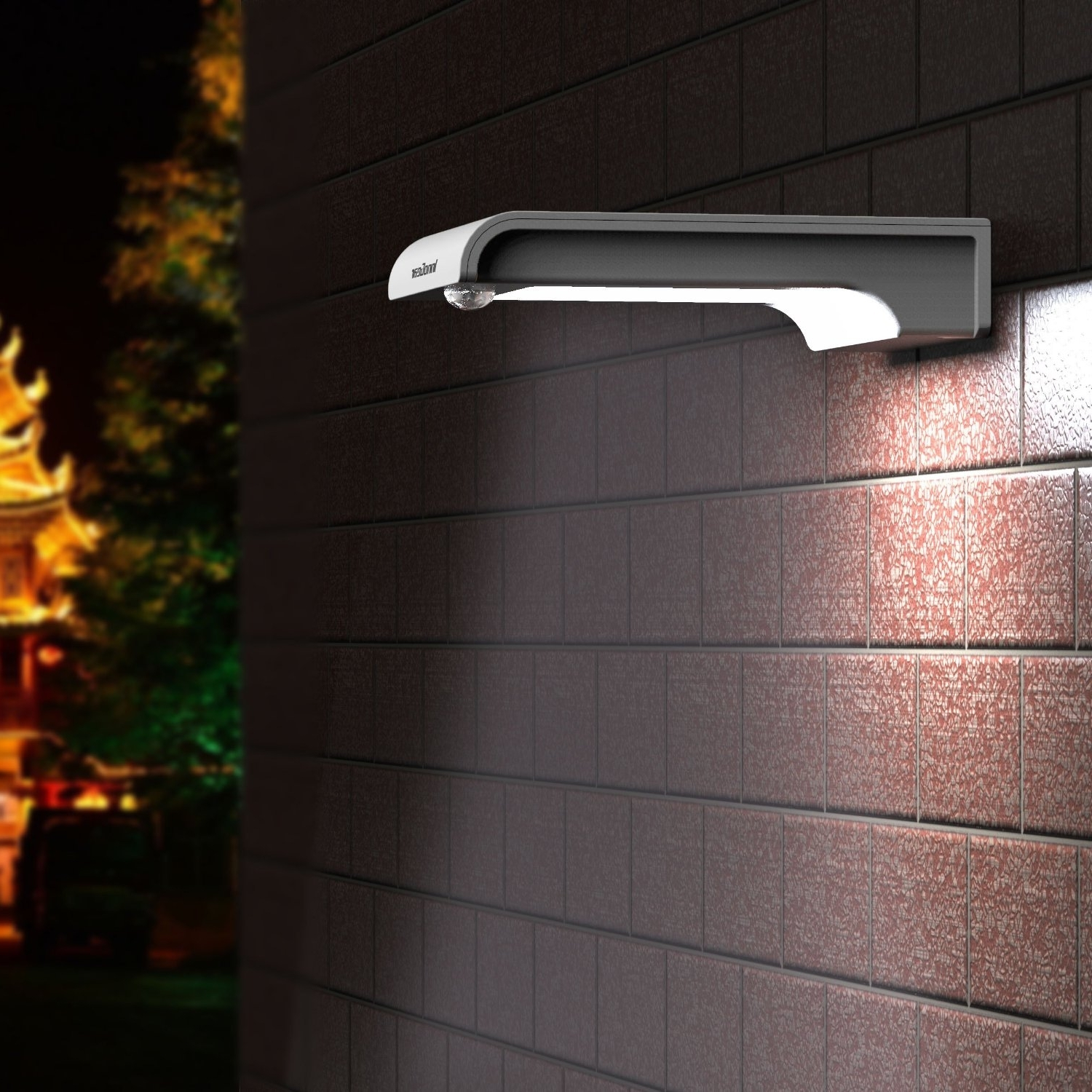 Popular Outdoor Wall Lighting At Amazon Within Solar Powered Porch Light Amazon Com Upgraded Motion Sensor Innogear (View 16 of 20)
