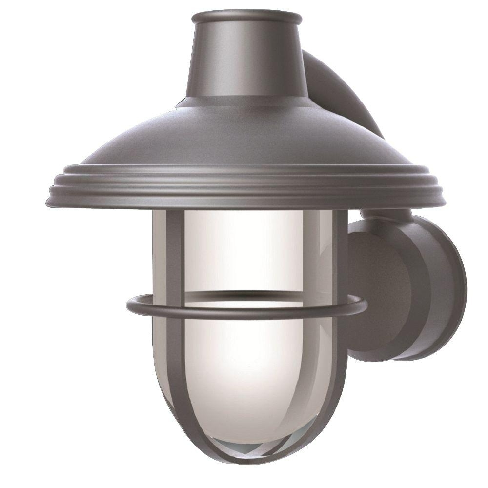 Popular Outdoor Wall Lights For Coastal Areas For Newport Coastal Bayview Satin Nickel Outdoor Wall Mount Lantern  (View 16 of 20)