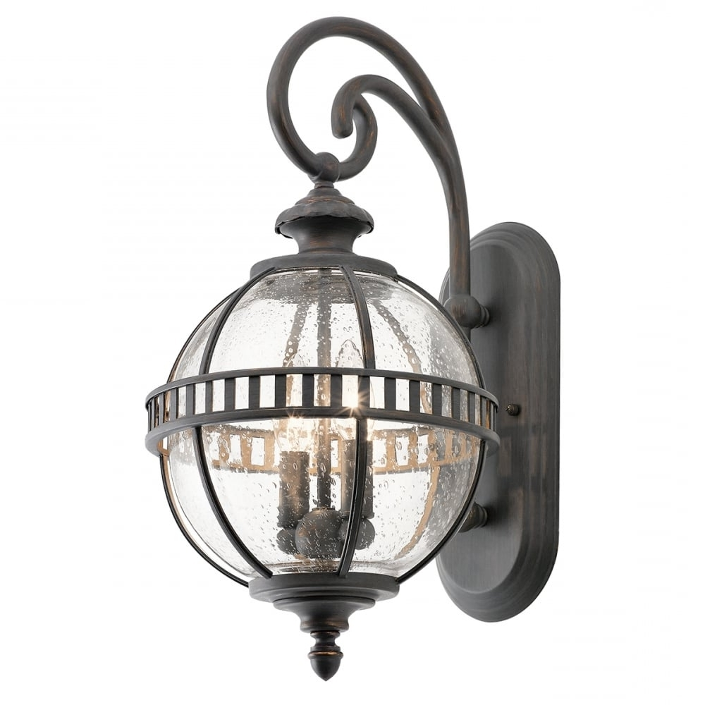 Popular Outside Wall Globe Lights With Victorian Small Globe Style Exterior Lantern In Londonderry Finish (View 7 of 20)