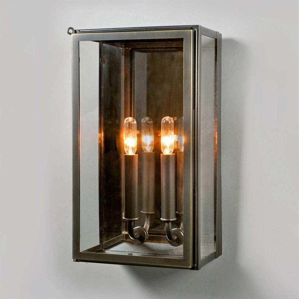 Popular Rectangle Outdoor Wall Lights For Electric Vic Indoor/outdoor Wall Sconce In Bronze Ue 8710 Bz (View 12 of 20)
