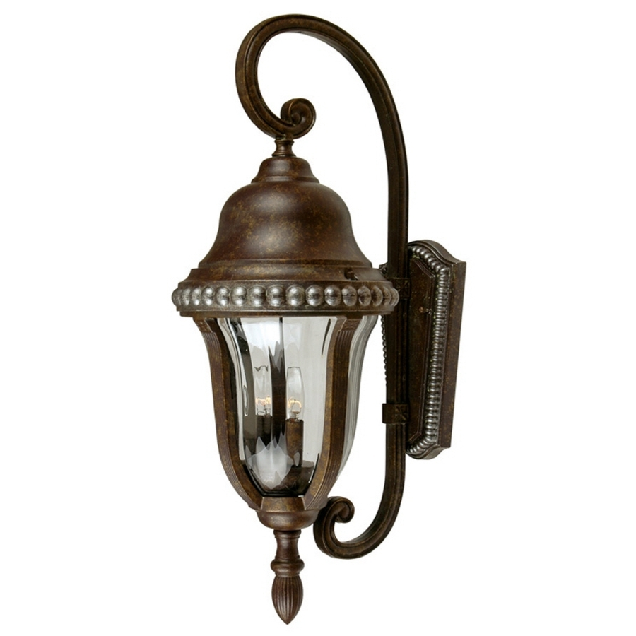 Popular Shop Portfolio Antique Bronze Outdoor Wall Light At Lowes With Regard To Antique Outdoor Wall Lights (View 17 of 20)