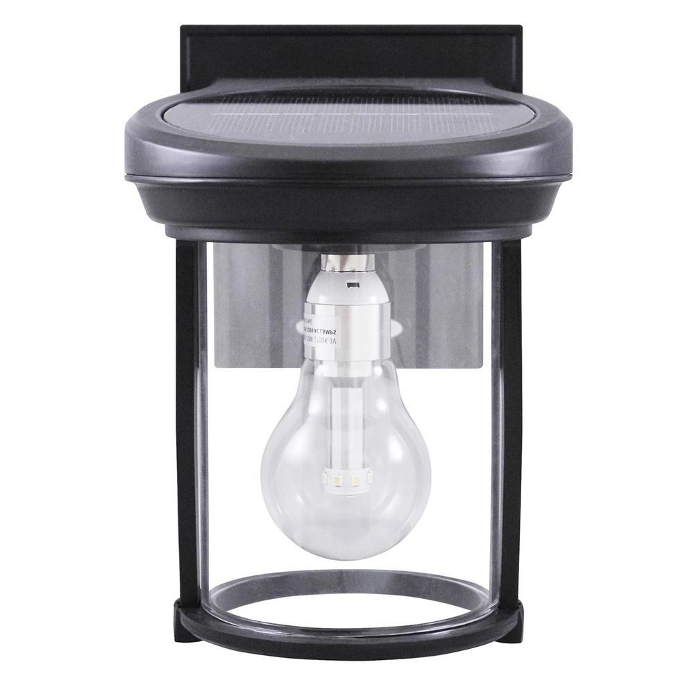Popular Solar Outdoor Lighting Within Gama Sonic Solar Coach 1 Light Black Outdoor Wall Lantern Gs 1B B (View 13 of 20)