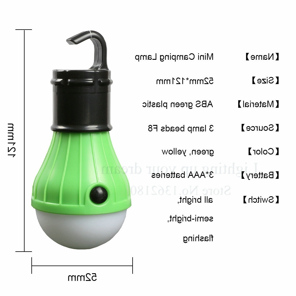 Portable Outdoor Hanging Tent Camping Light Lantern,soft Night Light With Most Recently Released Outdoor Hanging Camping Lights (View 14 of 20)