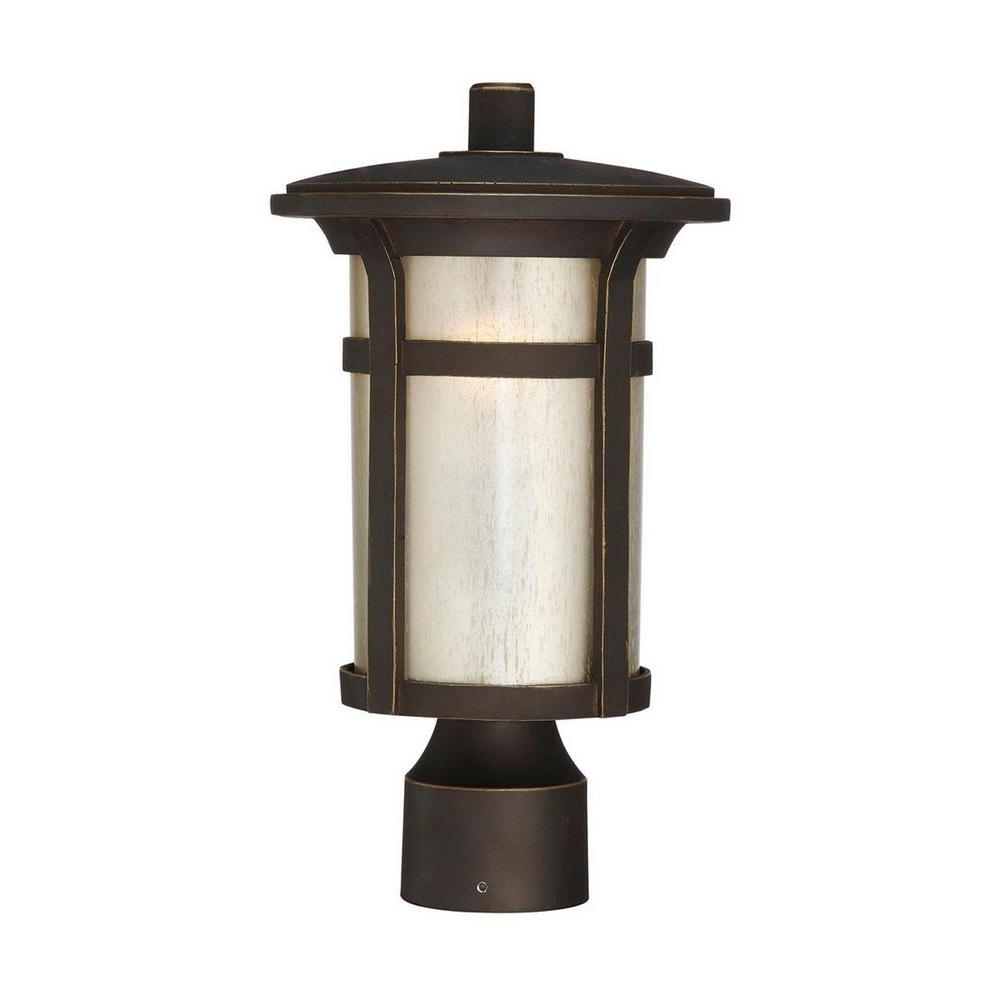 Post Light – Post Lighting – Outdoor Lighting – The Home Depot Intended For Favorite Modern Led Post Lights At Home Depot (View 13 of 20)