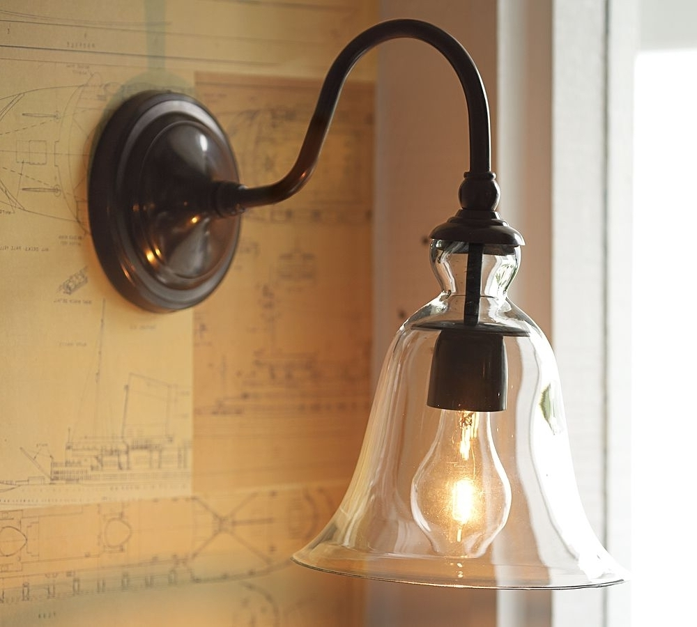 Pottery Barn Outdoor Wall Lighting Pertaining To Favorite Pottery Barn Bathroom Wall Sconces • Wall Sconces (View 13 of 20)