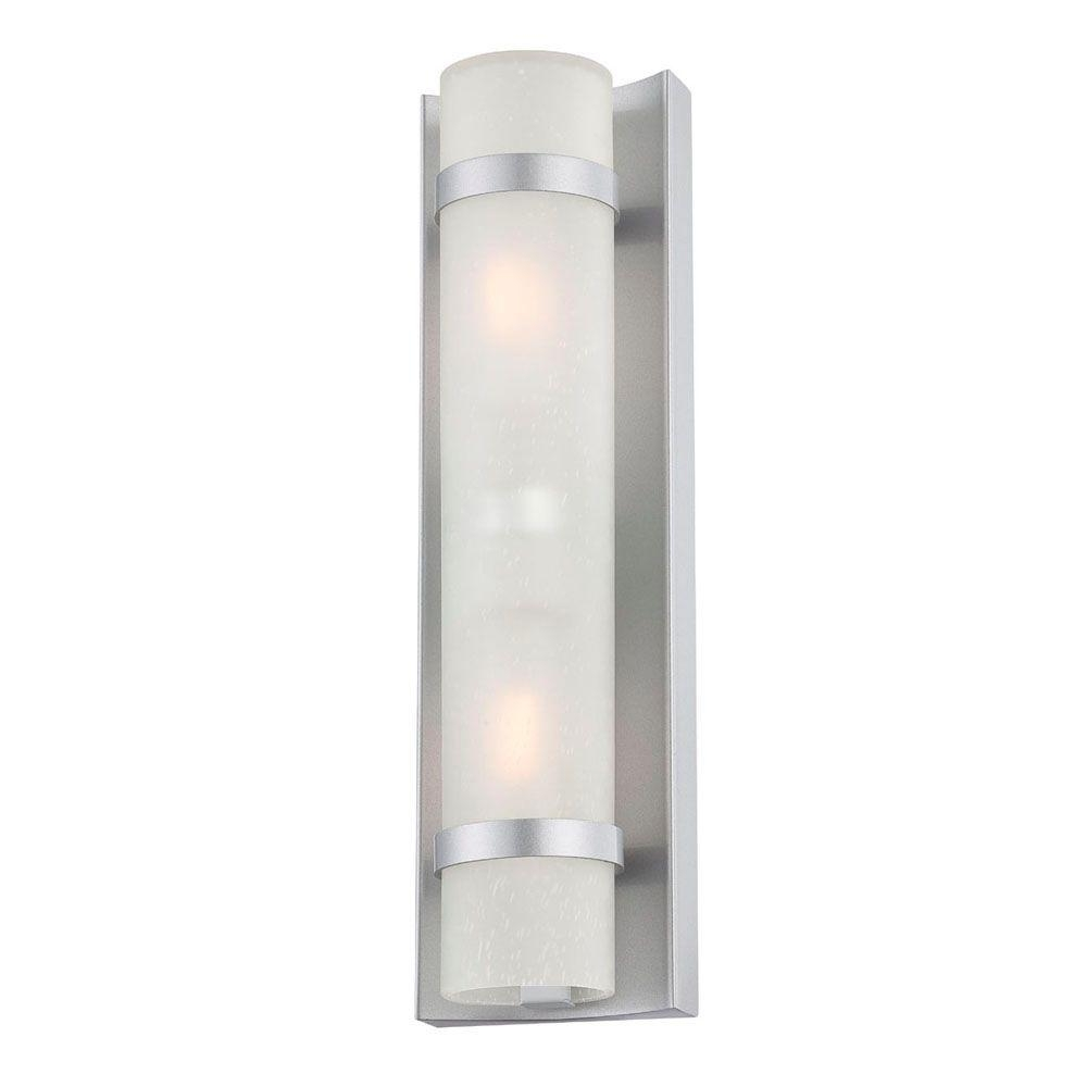 Preferred Acclaim Lighting Apollo Collection 2 Light Brushed Silver Outdoor In Silver Outdoor Wall Lights (View 10 of 20)