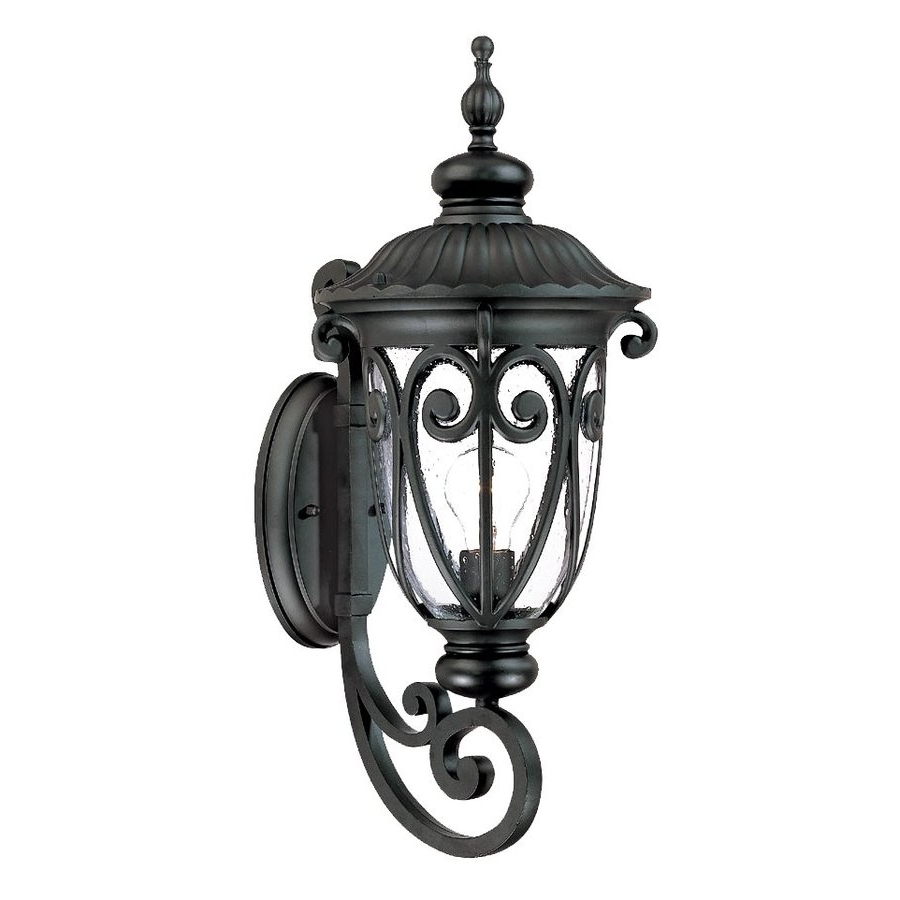 Preferred Acclaim Lighting Outdoor Wall Lights For Shop Acclaim Lighting Naples 22 In H Matte Black Medium Base (E  (View 12 of 20)