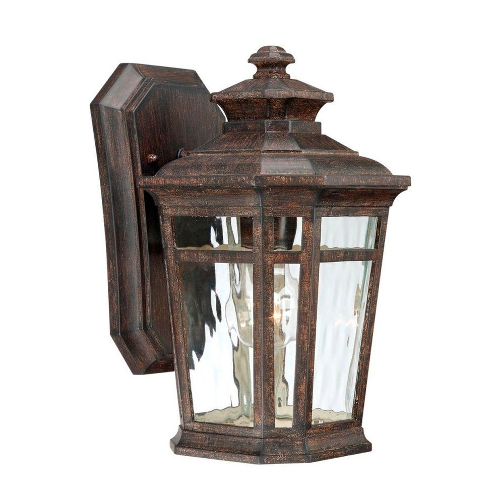 Preferred Bronze Outdoor Wall Lights In Home Decorators Collection Waterton 1 Light Dark Ridge Bronze (View 18 of 20)