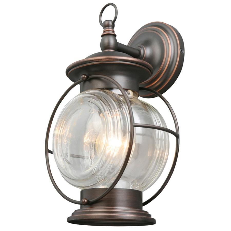 Preferred Bronze Outdoor Wall Lights Regarding Shop Portfolio Caliburn (View 14 of 20)