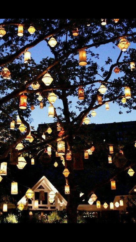 Preferred Diy : Outdoor Tree Lantern Lights Outdoor Tree Lantern Lights With Outdoor Hanging Nylon Lanterns (View 17 of 20)