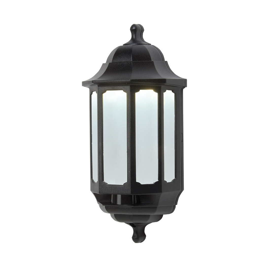 Preferred Half Lantern Outside Wall Lights Intended For Outdoor Half Lantern Wall Light White – Outdoor Designs (View 3 of 20)