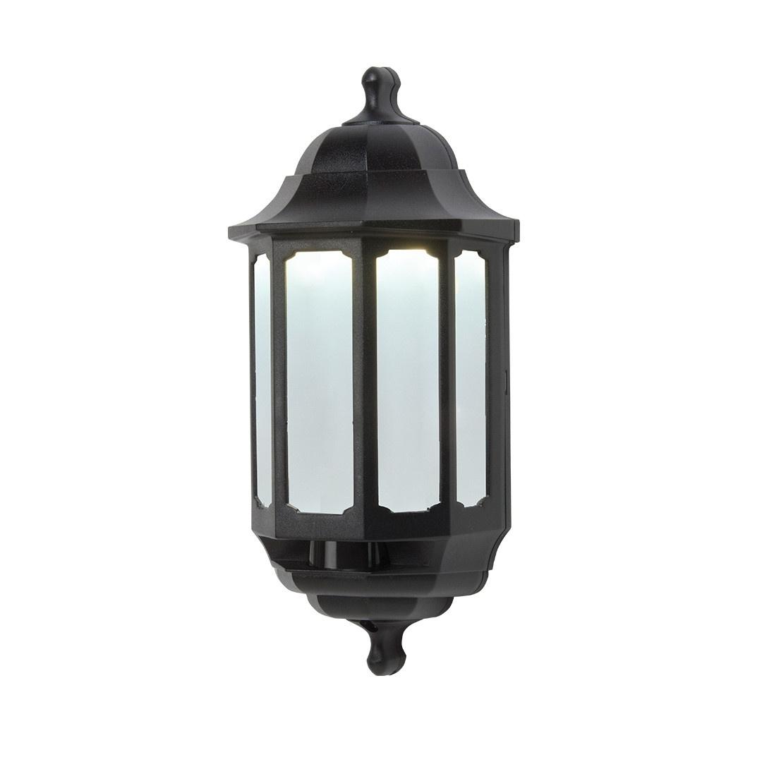 Preferred Half Lantern Outside Wall Lights Intended For Outdoor Half Lantern Wall Light White – Outdoor Designs (View 15 of 20)