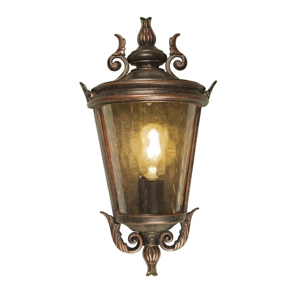 Preferred Half Lantern Outside Wall Lights Within Diy : Elstead Lighting Balmoral Large Half Wall Lantern Outdoor (View 17 of 20)