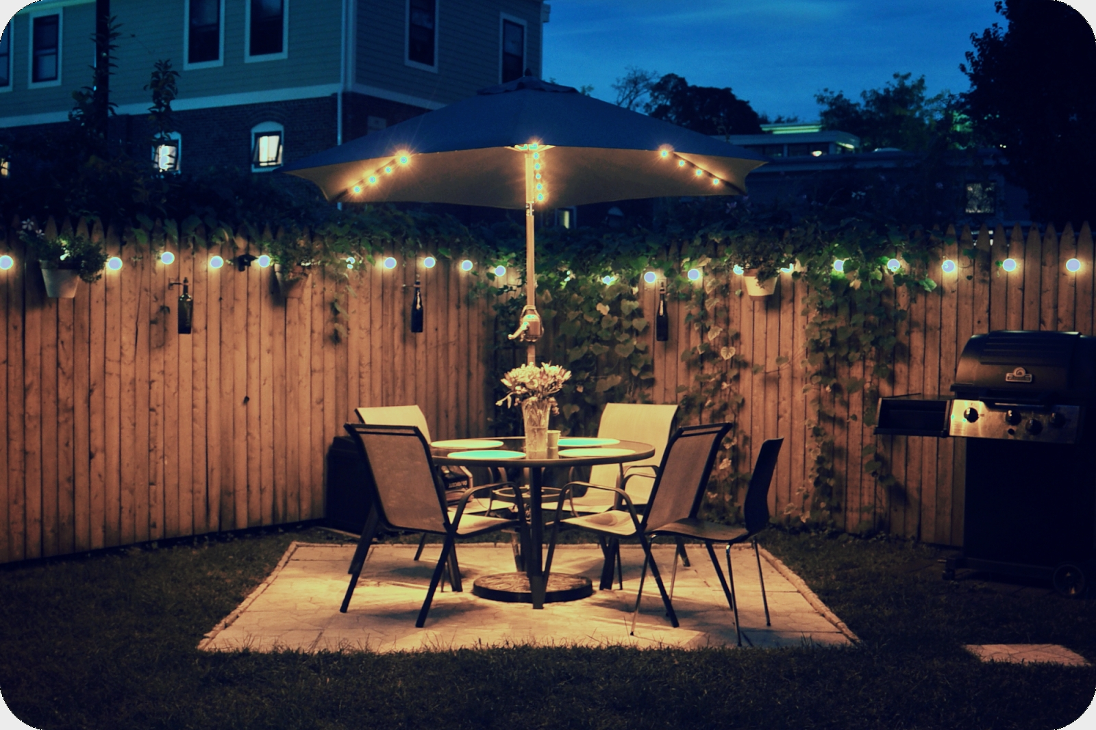 Preferred Hanging Outdoor Lights On Fence Throughout Very Fashionable Balcony Lighting Decorating Ideas