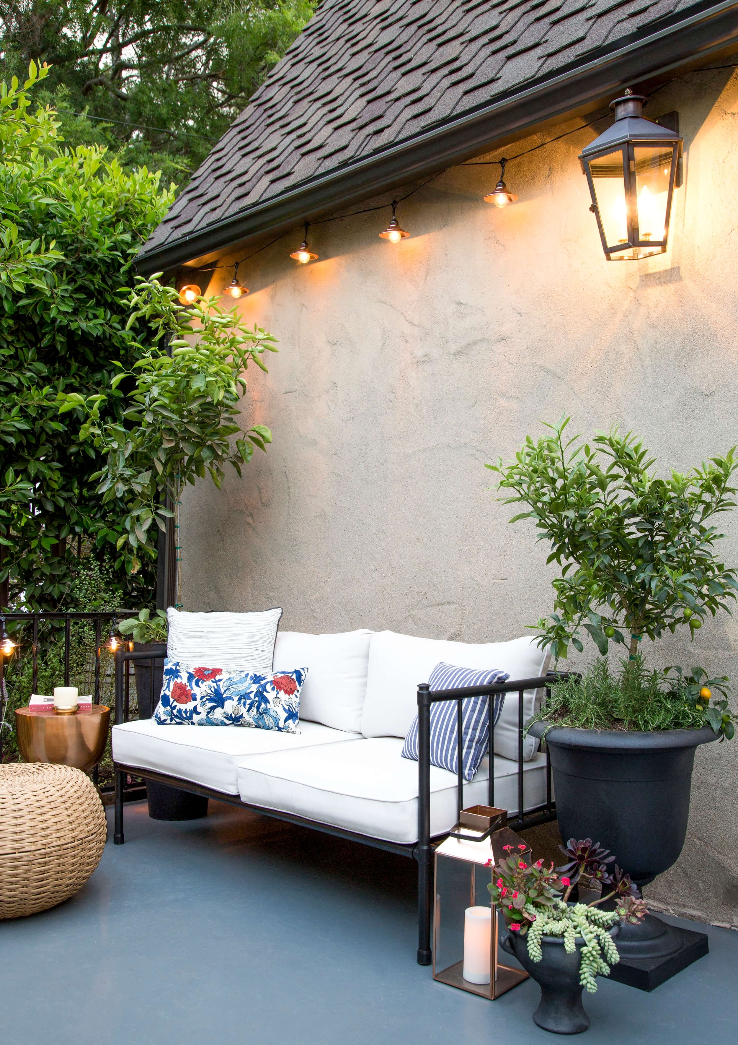 Preferred How To Decorate Your Outdoor Space (With All Target) – Emily Henderson With Contemporary Outdoor String Lights At Target (View 13 of 20)