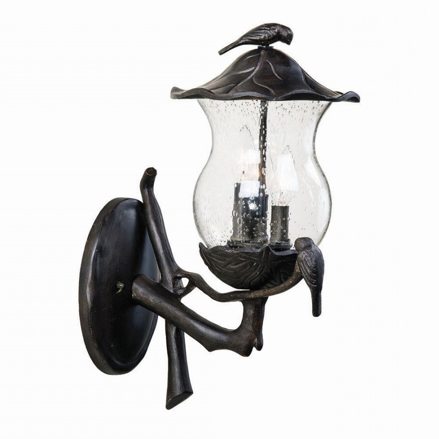 Preferred Lighting 7561Bc/sd Avian 3 Light Outdoor Wall Mount In Black Coral Pertaining To Acclaim Lighting Outdoor Wall Lights (View 13 of 20)
