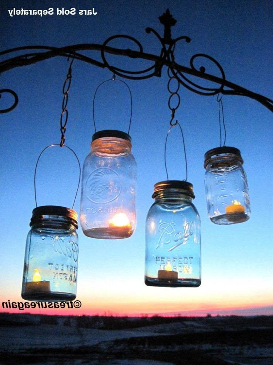 Preferred Outdoor Hanging Candle Lanterns Regarding 30 Candle Lantern Lids Diy Wedding Mason Jar Lanterns, Hanging (View 14 of 20)