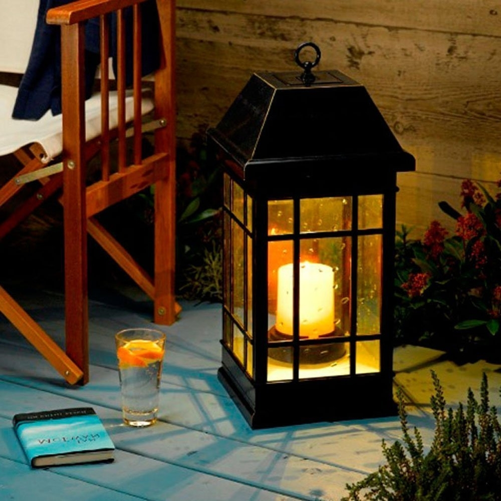 Preferred Outdoor Hanging Solar Lanterns Intended For Amazon : Smart Solar 3900kr1 San Rafael Mission Style Solar (View 7 of 20)