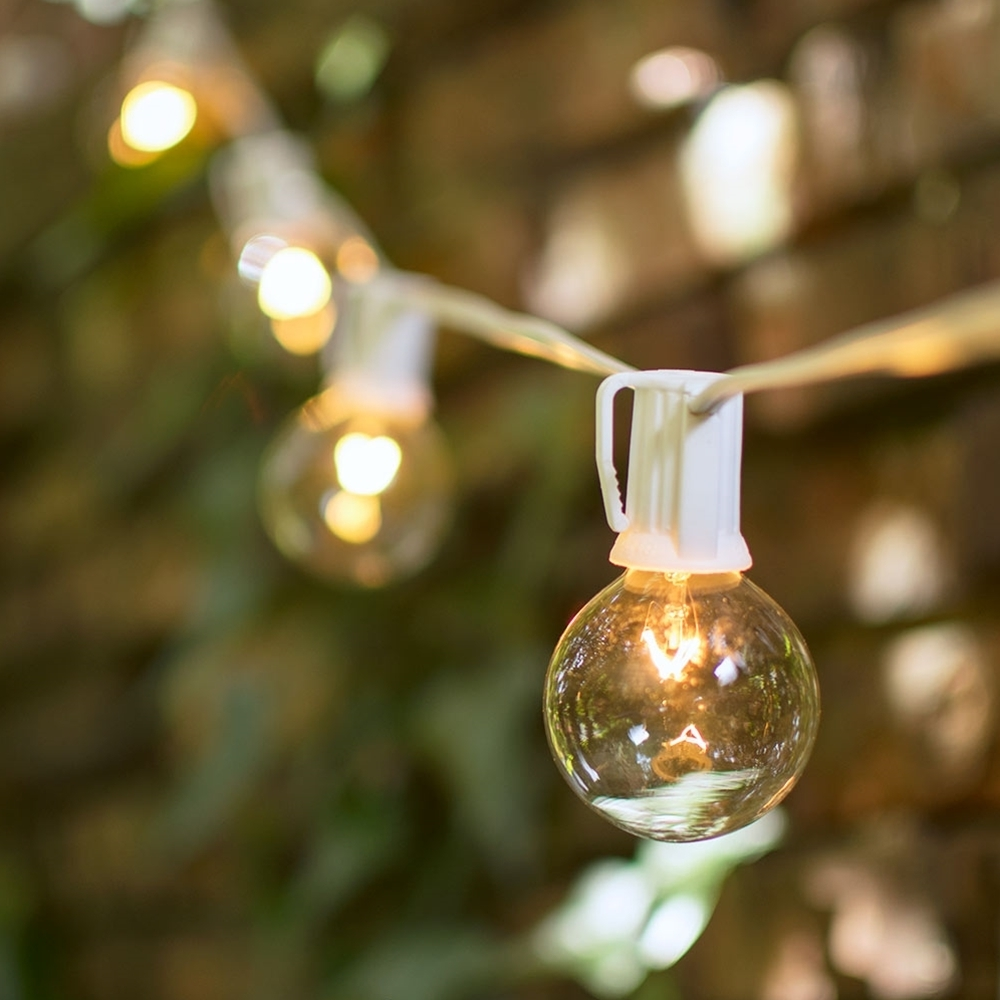 Preferred Outdoor Hanging String Light Bulbs Regarding Decoration : Outdoor Led Globe String Lights Outdoor Garden String (View 16 of 20)