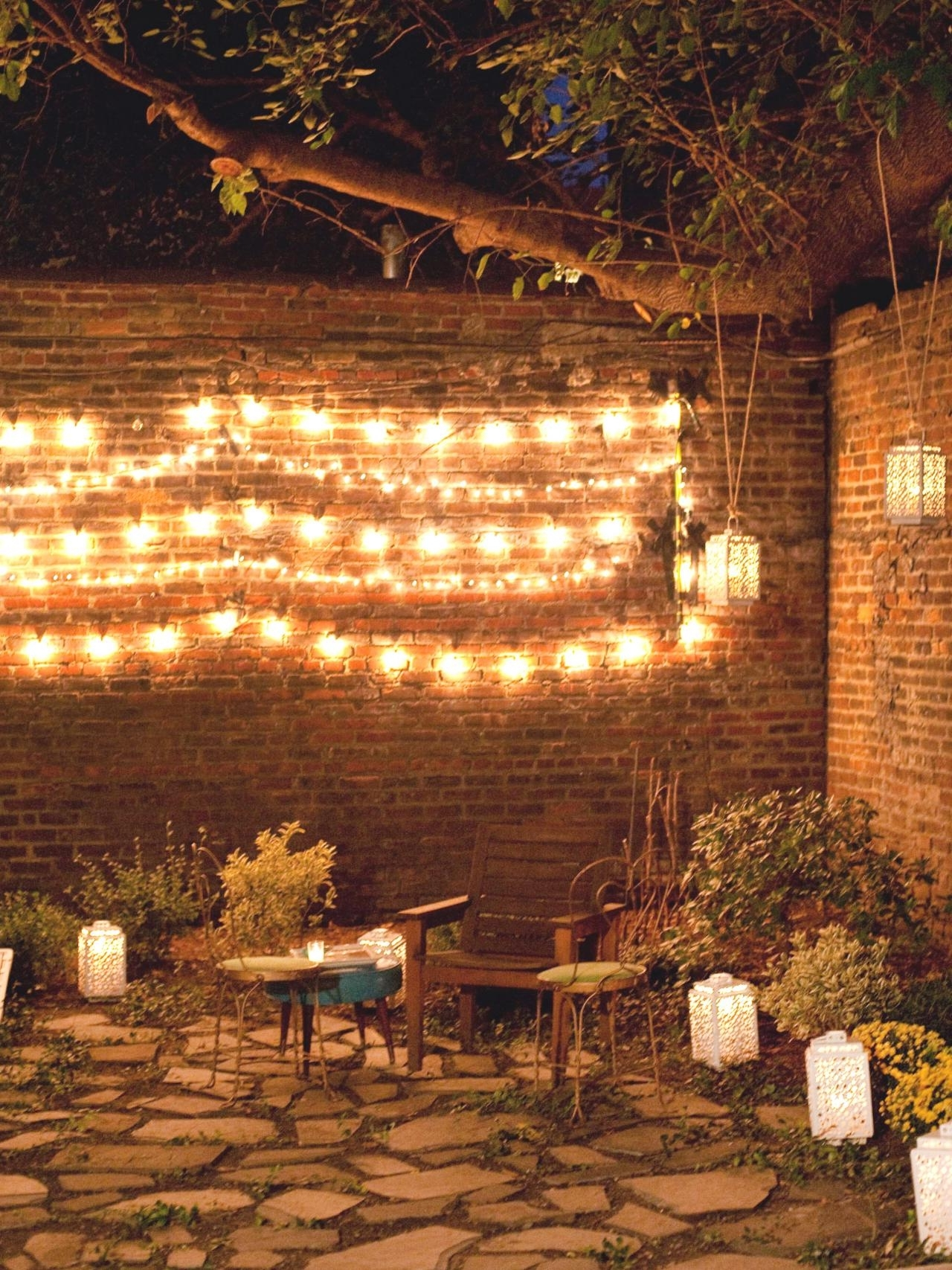 Preferred Outdoor Hanging Wall Lights Throughout Hanging String Lights Outdoors Amazing Patio Bright July Diy Outdoor (View 11 of 20)