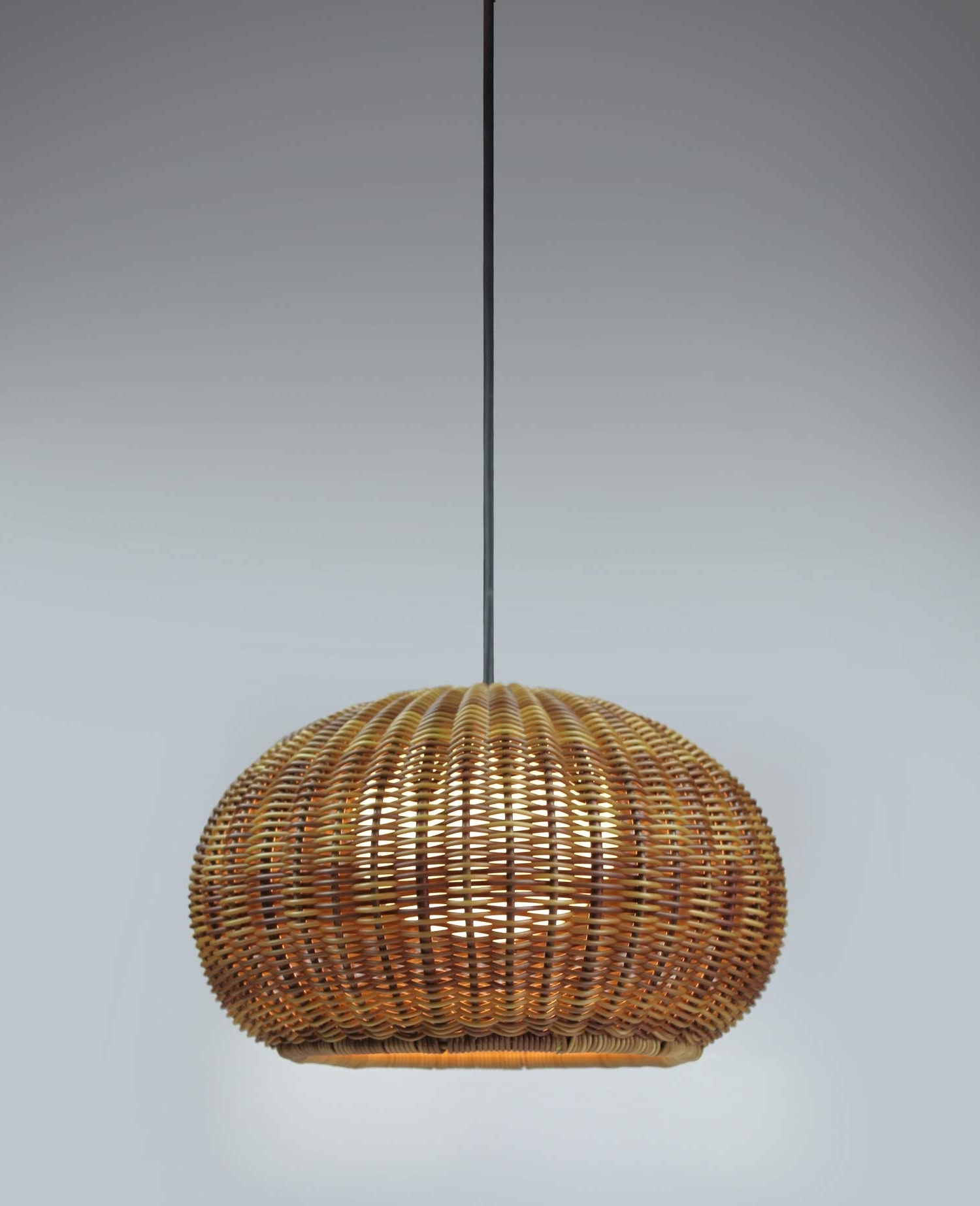 Preferred Outdoor Hanging Wicker Lights Within Garota Hang Outdoor Pendant Lightbover (View 2 of 20)