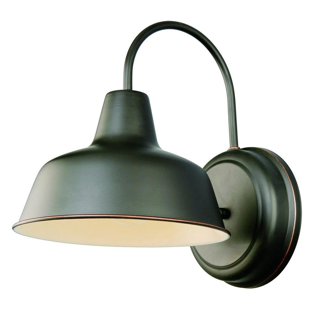 Preferred Outdoor Wall Lighting At Home Depot For Design House Mason 1 Light Oil Rubbed Bronze Outdoor Wall Sconce (View 18 of 20)